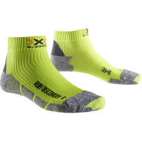 X-Socks Run Discovery Socks Men Green Lime/Grey Mouliné
